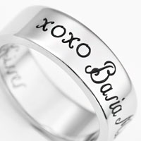 A Thousand Kisses Stainless Steel Engraved Rings sz 5 and sz 11 inset 1