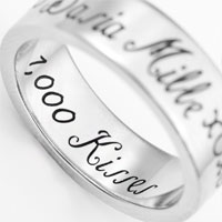 A Thousand Kisses Stainless Steel Engraved Rings sz 5 and sz 11 inset 3