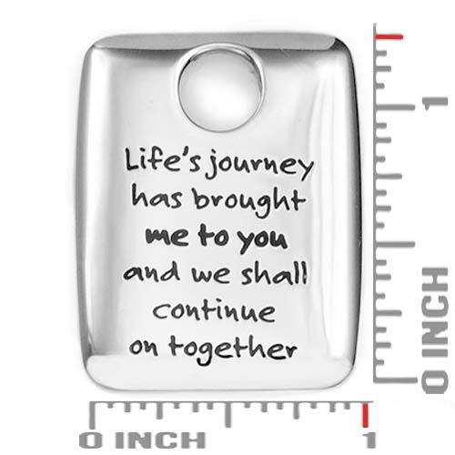 Lifes Journey Stainless Personalized Pendant inset 1