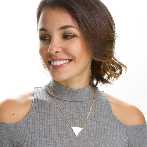 Silver & Gold Geometric Engraved Necklaces inset 1