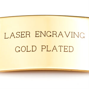 Example of gold plated laser engraving