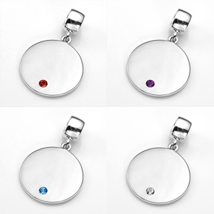 Eye-Catching Silver Personalized Birthstone Jewelry Charms inset 1