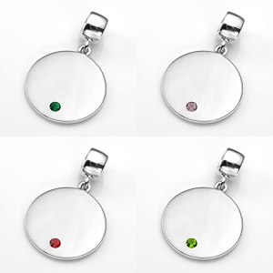 Silver Personalized Birthstone Charms inset 3