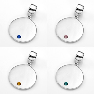 Eye-Catching Silver Personalized Birthstone Jewelry Charms inset 4