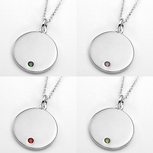 Elegant Sterling Personalized Birthstone Necklace Pendants inset 2