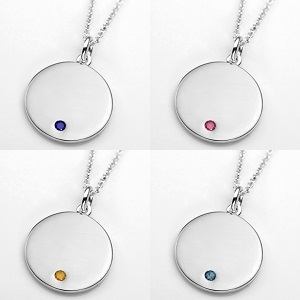 Elegant Sterling Personalized Birthstone Necklace Pendants inset 3