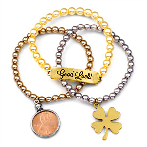 Good Luck! 24K Gold Plated Charm Bracelets by John Wind inset 1