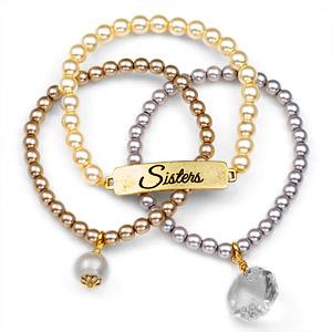 Sisters 24K Gold Plated Charm Bracelets by John Wind inset 1
