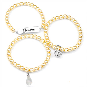 Grandma Silver Plated Charm Bracelets by John Wind inset 1
