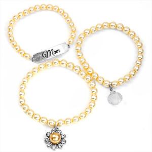 Mom Silver Plated Charm Bracelets by John Wind inset 1