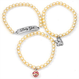 Baby Girl Silver Plated Charm Bracelets by John Wind inset 1
