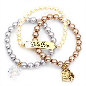 Baby Boy 24K Gold Plated Charm Bracelets by John Wind inset 1
