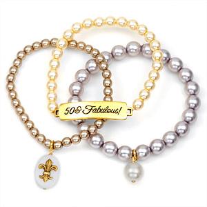 50 & Fabulous! 24K Gold Plated Charm Bracelets by John Wind inset 1