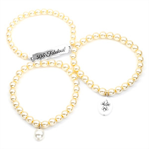 50 & Fabulous! Silver Plated Charm Bracelets by John Wind inset 1