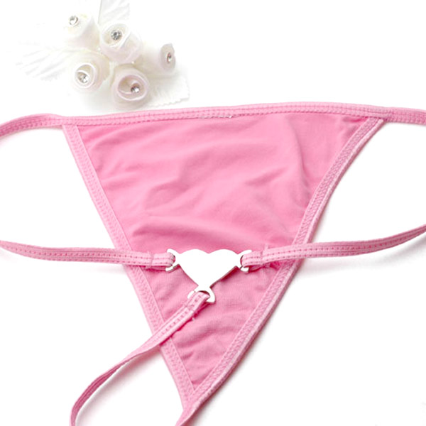 Small Pink G String & Monogrammed Stainless Heart inset 1