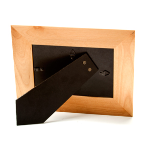 Alder Wood Personalized Picture Frame for 5 x 7 In Photo inset 1