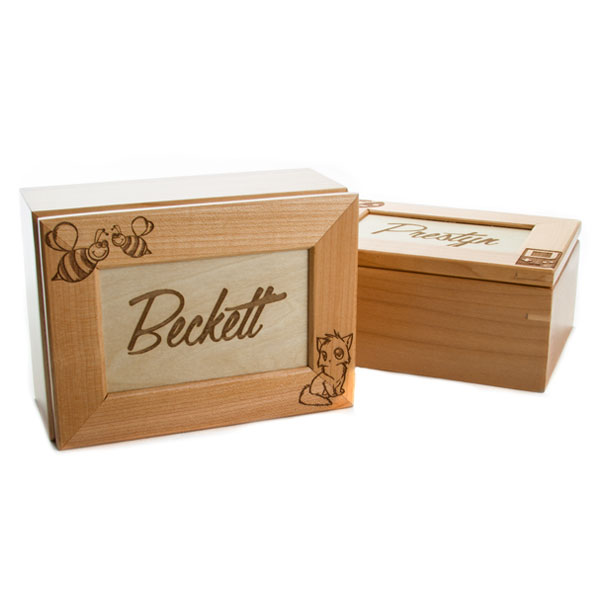 Maple Wooden Gifts Personalized Keepsake Box inset 2