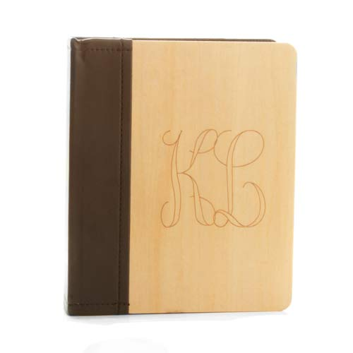 Engraved Maple Wood & Faux Leather Photo Album inset 2