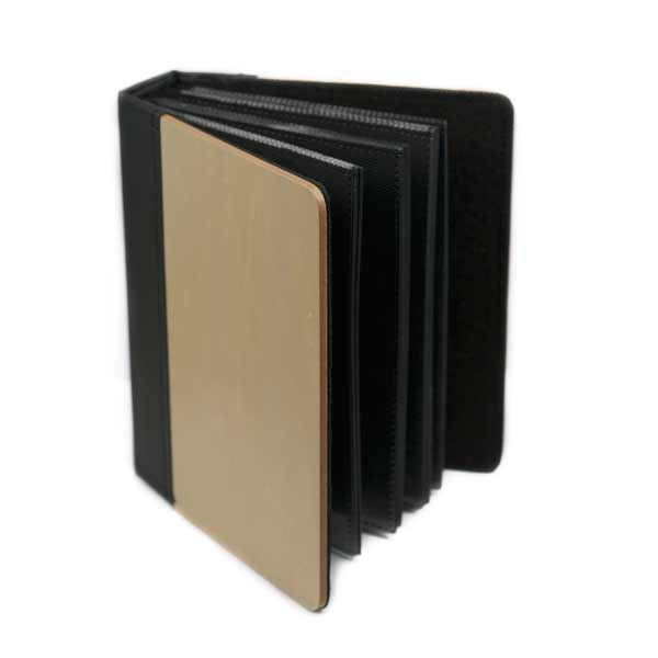 Engraved Maple Wood & Faux Leather Photo Album inset 1