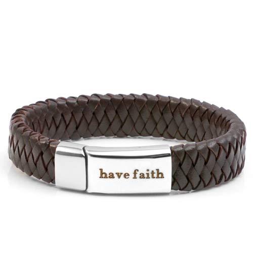 Braided Dark Personalized Leather Bracelets inset 1