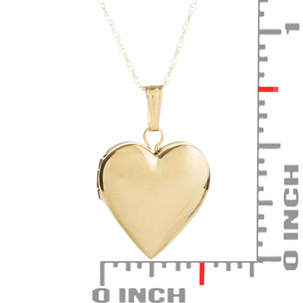 Sweet Girls 14k Gold Heart Personalized Locket 15 inch chain inset 2