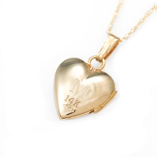 Cross Etched 14k Gold Personalized Lockets inset 3