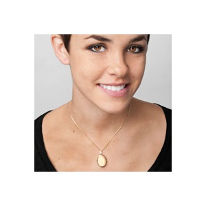 Alyssa 14K Gold 4 Pic Personalized Locket inset 2