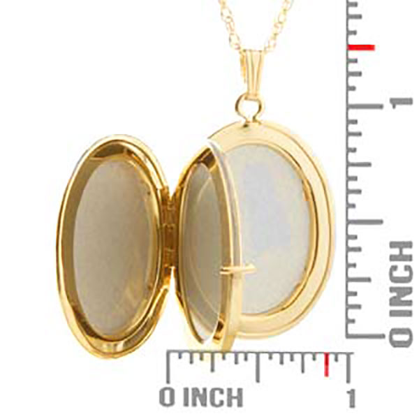 14K Gold Filled Oval 4 Photo Personalized Locket Necklace inset 3