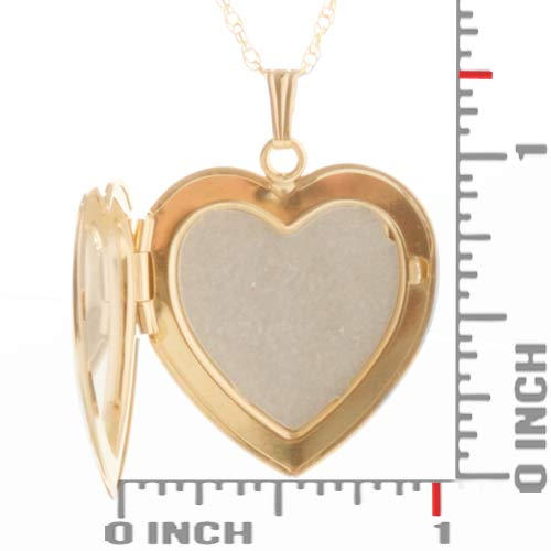 Gold 2 Photo Engraved Heart Locket Necklace inset 1