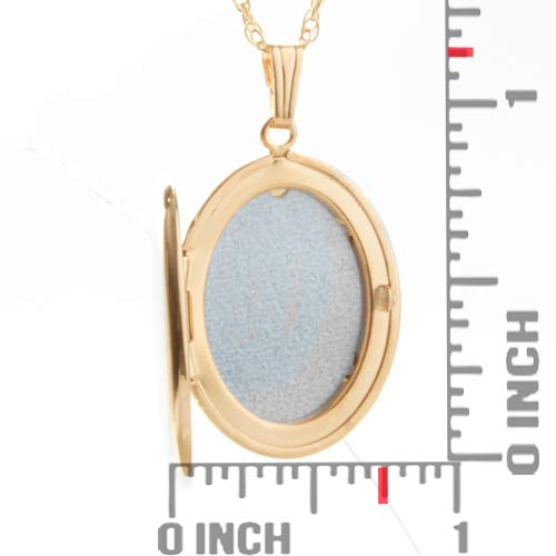 Erika 14K Gold Filled Personalized Locket Necklace inset 1
