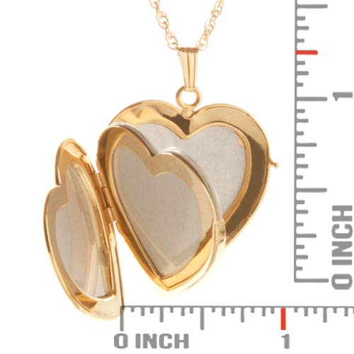 14K Gold Filled 4 Photo Heart Locket inset 3