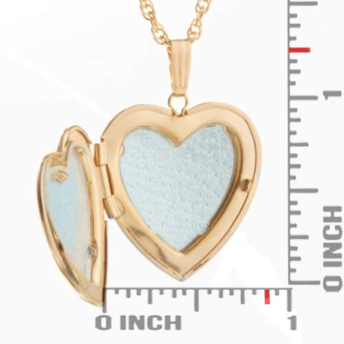 Amelia 14K Gold Heart Engraved Locket inset 1