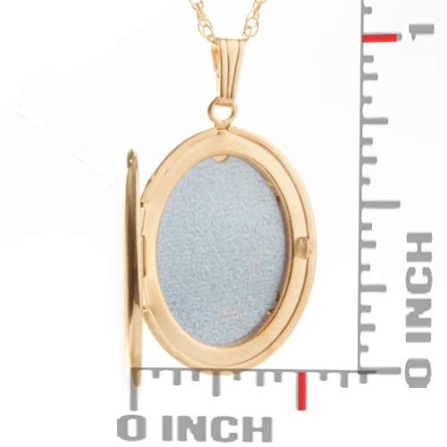14K Gold Filled Oval Personalized Locket Necklace inset 1