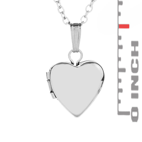 Sterling Silver Baby Girl Heart Engraved Locket  inset 2