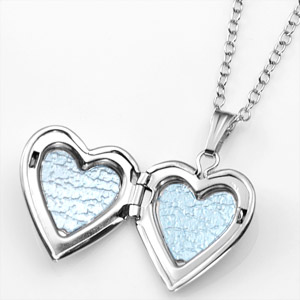 Sterling Silver Girls Engraved Locket Necklace inset 1