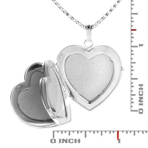 Sterling Silver 1 In Heart 4 Photo Personalized Locket inset 1