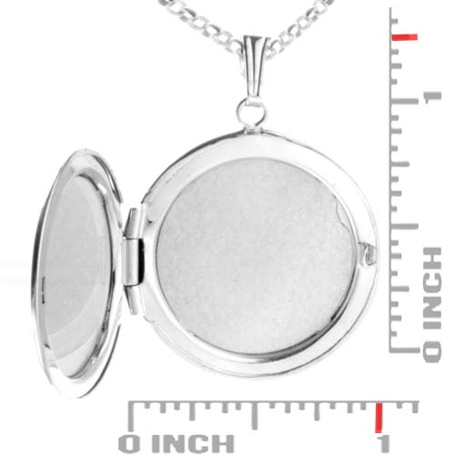 Sterling Silver Round 2 Photo Personalized Locket  inset 1