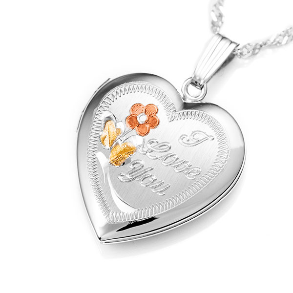 I Love You Personalized Locket inset 1