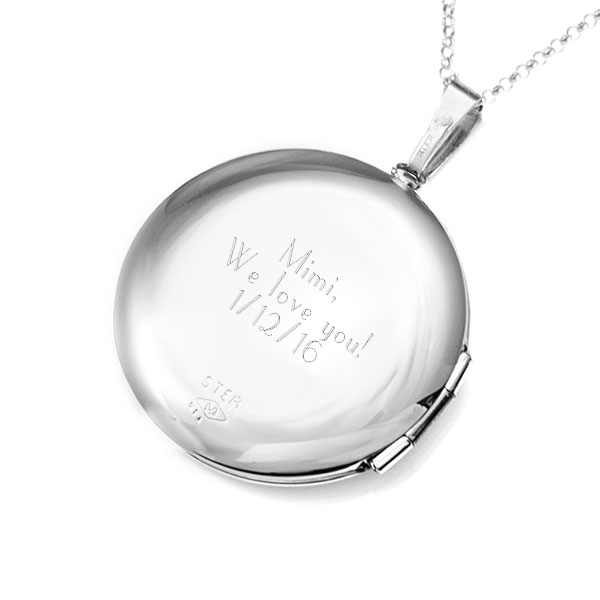 Silver Diamond Studded 2 Pic Engraved Locket inset 2
