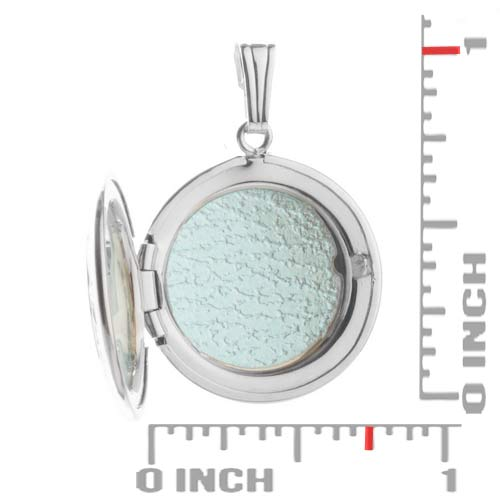 Silver Diamond Studded 2 Pic Engraved Locket inset 1