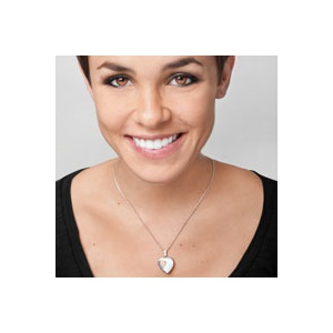 Silver 14K Gold Heart Personalized Locket Necklace inset 1