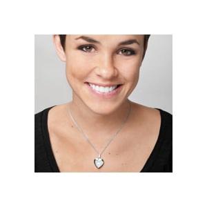 Diamond Blossom Silver Heart Engraved Lockets inset 1
