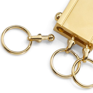 Trio Gold Plated Personalized Keychain inset 2