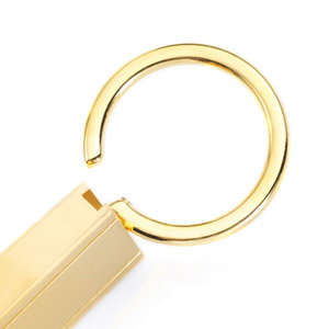 Trio Gold Plated Personalized Keychain inset 1