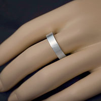 Sterling Silver Flat Band Custom Rings inset 1