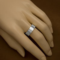 Sterling Silver Flat Band Engraved Rings inset 1