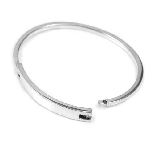 Sterling Silver Engravable Bangle Bracelet inset 1
