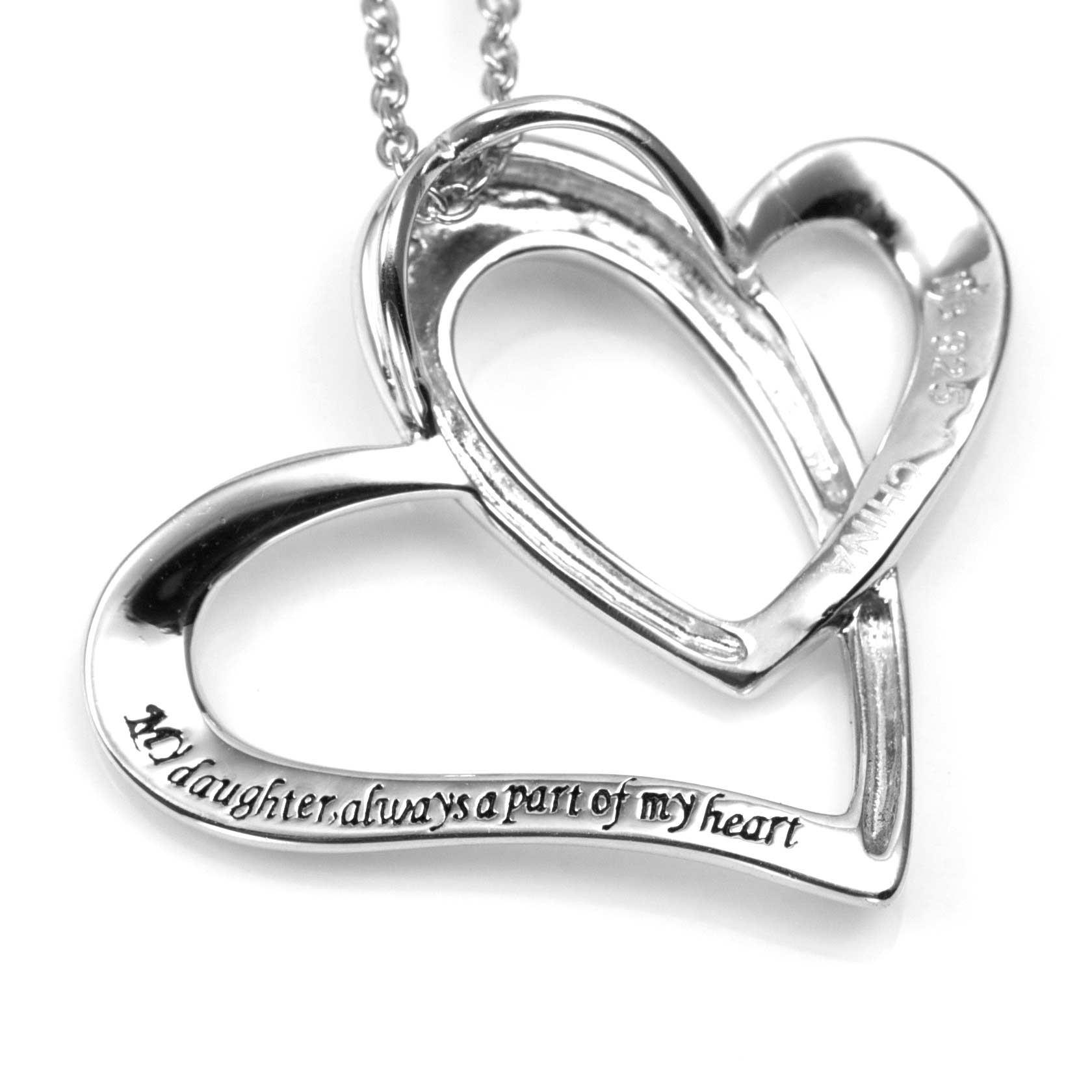 A Part of My Heart Personalized Sterling Silver Necklace inset 1