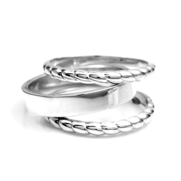 4mm Sterling Silver Stackable Engraved Rings inset 1