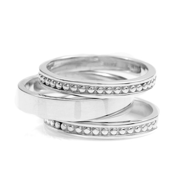 4mm Sterling Silver Stackable Engraved Rings inset 2